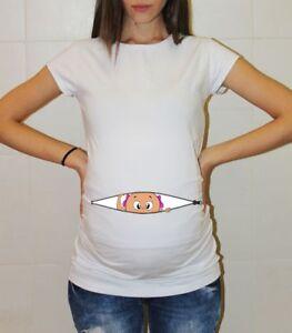 09651d8b8c89b Baby Girl Peek a Boo Maternity Shirt Pregnancy Reveal Announcement ...