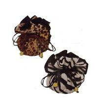 ANIMAL PRINT LEOPARD JEWELRY TRAVEL ORGANIZER bag pouch w/ pockets NEW