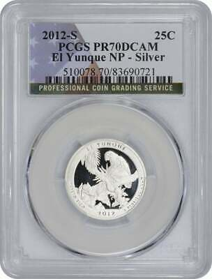 2012-S Flag Silver El Yunque Forest Quarter PR69DCAM PCGS Proof 69 Deep Cameo