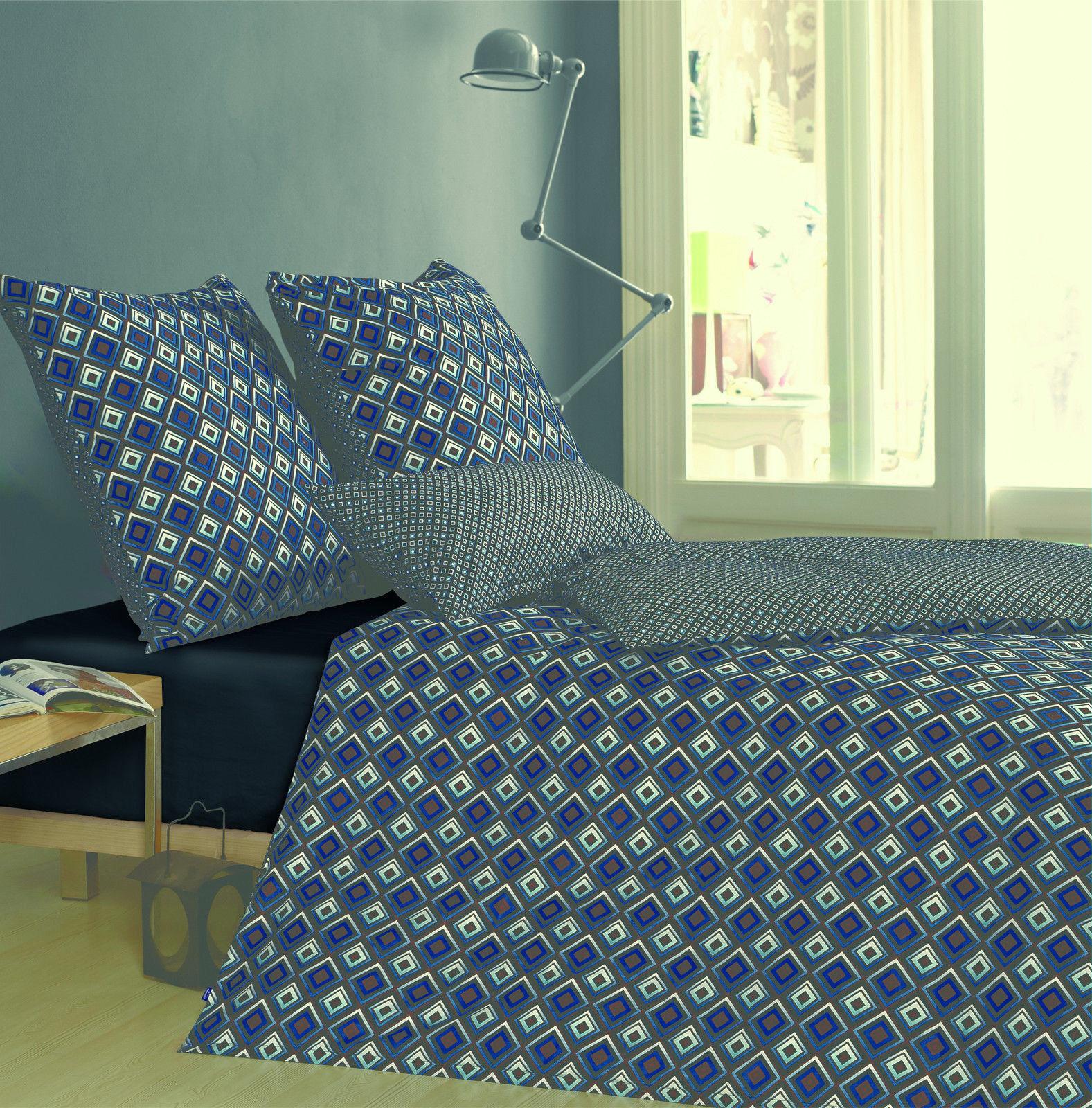 Modernes Wende-Bettwäsche Set aus 100 % Baumwolle, 2 tlg. 135 x200 cm  80 x80cm | Verschiedene Stile