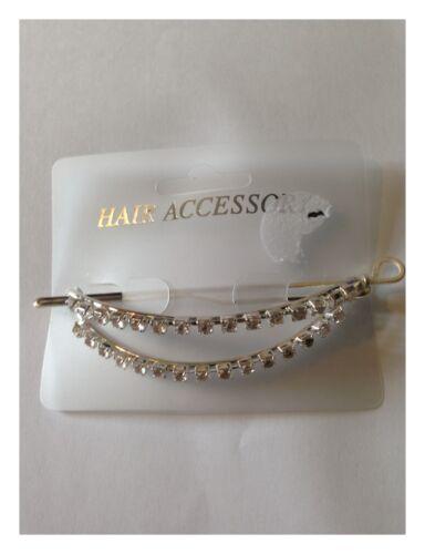 Pasador de cabello clip curvo empedrado Accesorio para el cabello 9cm Nuevo Con Etiqueta
