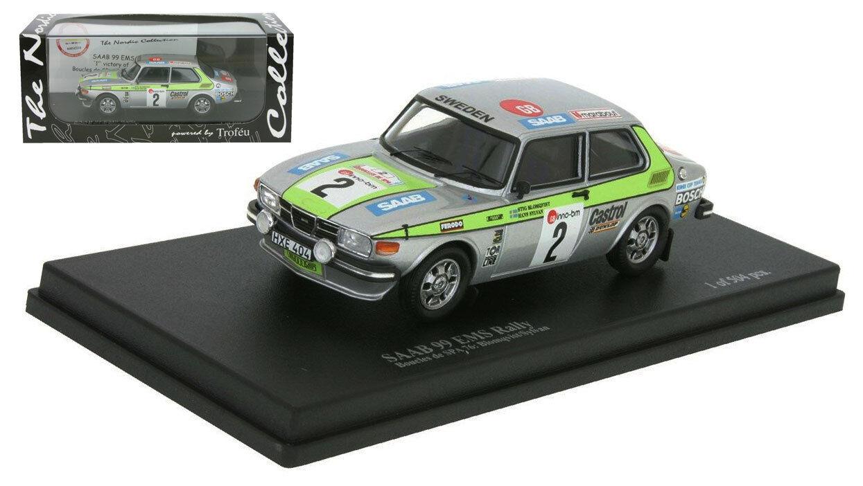 Trofeu Saab 99 EMS Rally Winner Boucles de Spa 1976 - Stig Blomqvist 1 43 Scale