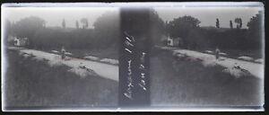 Auxonne 1915 Francia Negativo Foto Stereo Placca Da Lente VR12nf