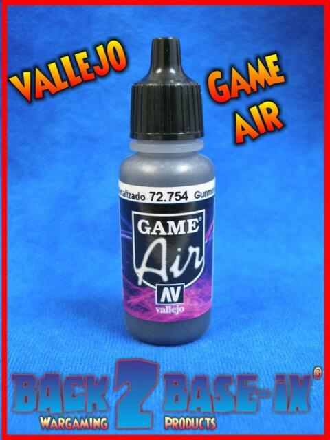 Vallejo Game Air 17ml Bottle Gunmetal 72754 Airbrush Acrylic Paint