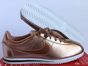 on sale 87fb6 3b5c7 Image is loading NIKE-CORTEZ-SE-GS-039-Metallic-Red-Bronze-