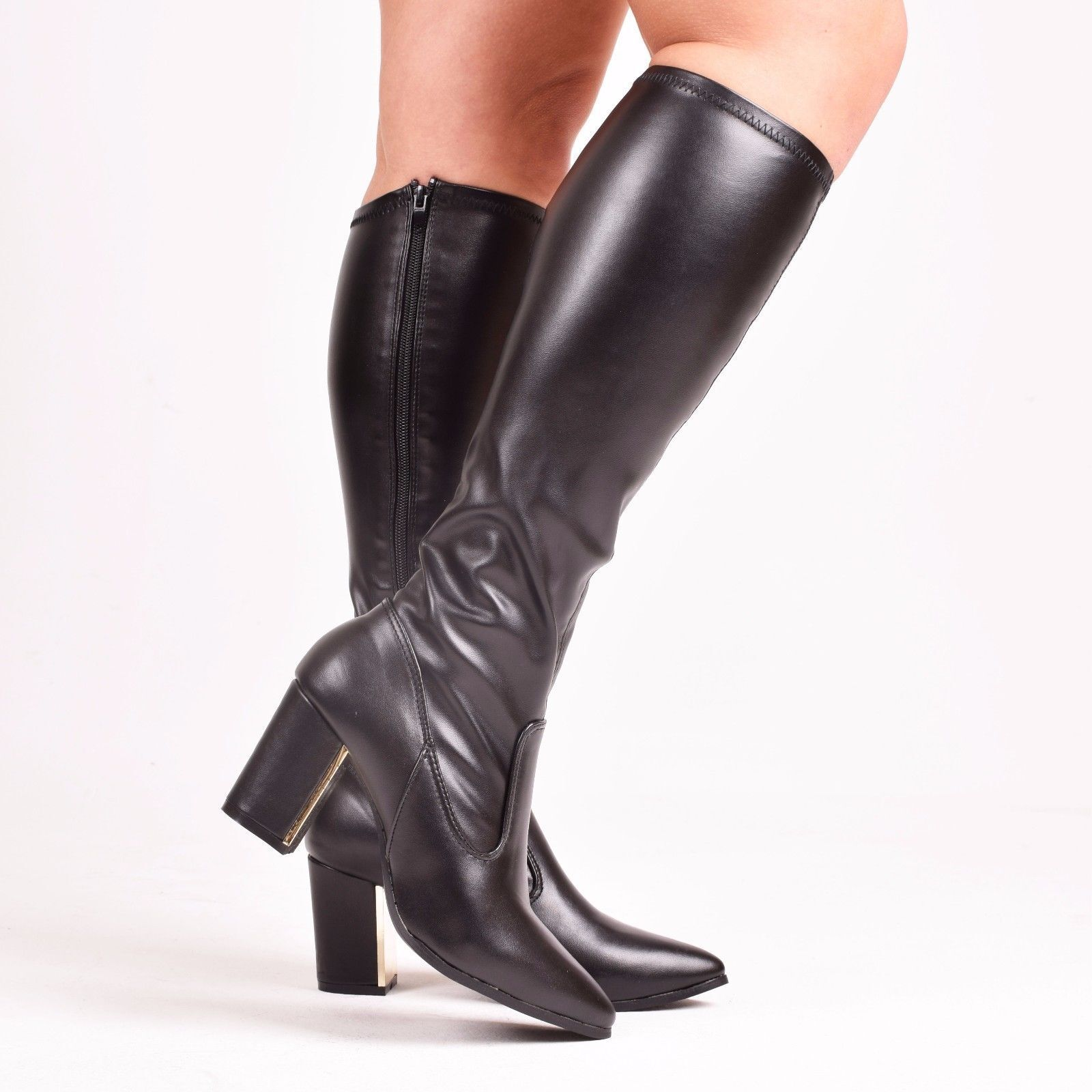 Leather Knee High Boot Size 8 M D83856