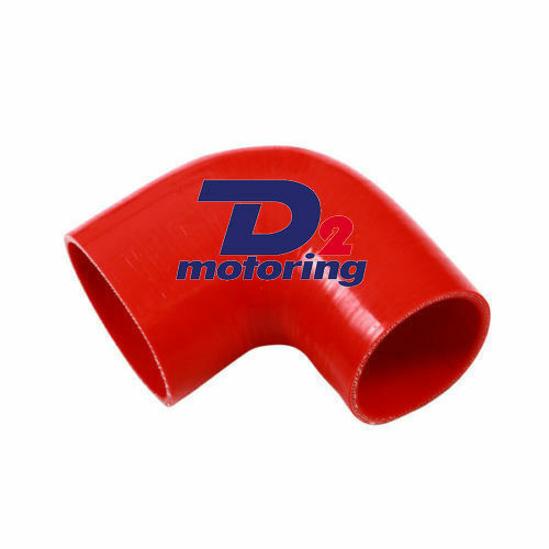 D2m Silicone 90 degree Elbow Reducer Red Hose 64>70mm 2.5>2.75""