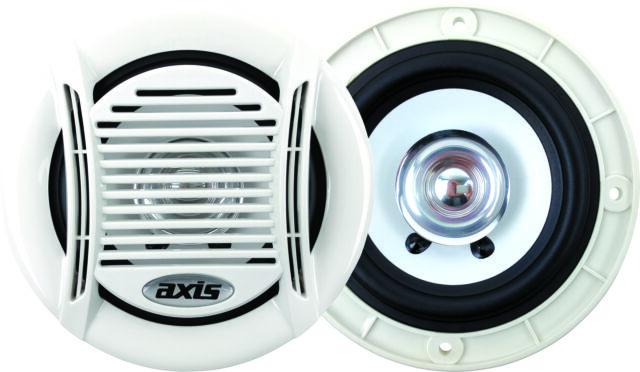 "Axis Marine 4"" 90W Cone Speakers White MA401"
