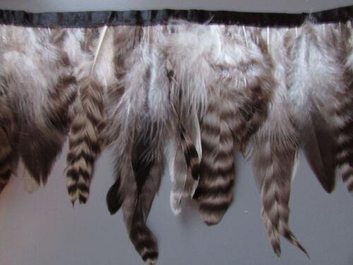 Chinchilla Hackle Feather Flecos 1 Metro O 30cm craft//sewing//millinery Disfraz