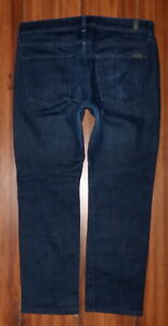 MENS-7-FOR-ALL-MANKIND-SLIMMY-STYLE-STRAIGHT-LEG-DARK-WASH-JEANS-SIZE-34X29