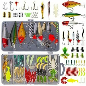 GOANDO 78Pcs Fishing Lures Kit for Freshwater Bait Tackle Kit for Bass Trout Sal