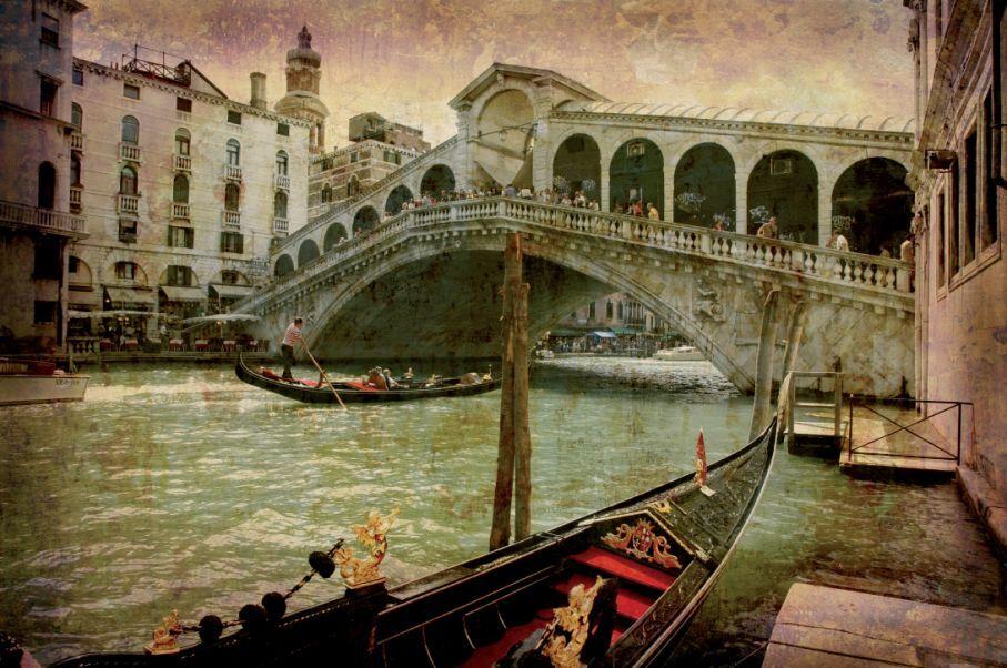 3D Ville Arc Pont 7 Photo Papier Peint en Autocollant Murale Plafond Chambre Art