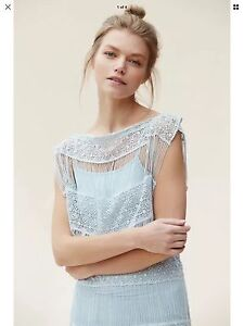 eef7bbe4dfff Image is loading NEW-Anthropologie-Crochet-Fringe-Maxi-Dress-Size-Small-