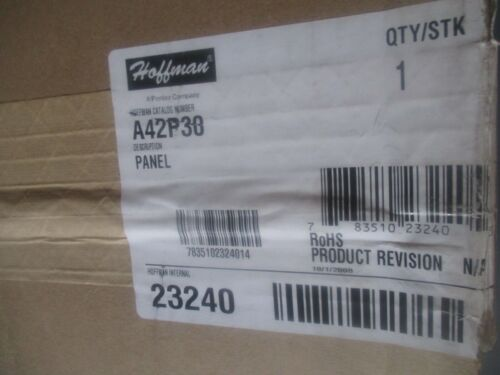 A42P30 Panel Hoffman Model New Old Stock  /<