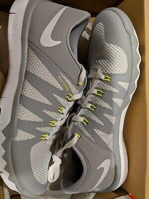 sports shoes fc3c0 6195c New Nike Men's Free Trainer 5.0 v6 Cross-Training Shoes Size 9 White Wolf  Grey 882409135121 | eBay