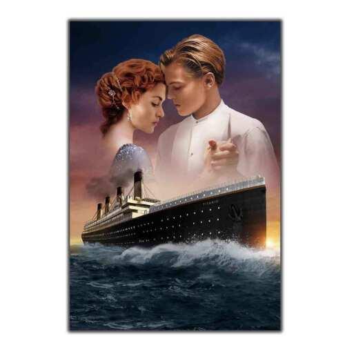 TITANIC Movie Leonardo DiCaprio RARE Art Poster Hot Gift canvas print 24x36 12x8