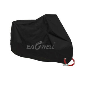 Motorcycle Cover Black Bike Waterproof Outdoor Rain Dust UV Protector XXL USA