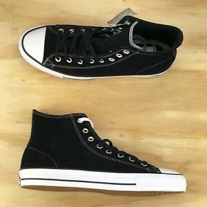 34750d26d88591 Converse Chuck Taylor All Star Pro Black White Suede High Top Shoes ...