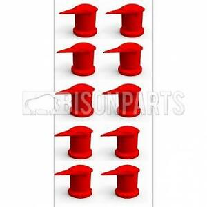 33mm Dustite Wheel Nut Indicator Red Pack of 100