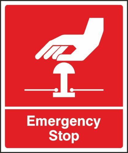 Red Emergency Stop Sign V6FAID0042 VAT Invoice Supplied