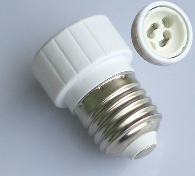 5x E27 auf GU10 Lampensockel Adapter für LED Halogen CFL Lampen Fassung Sockel