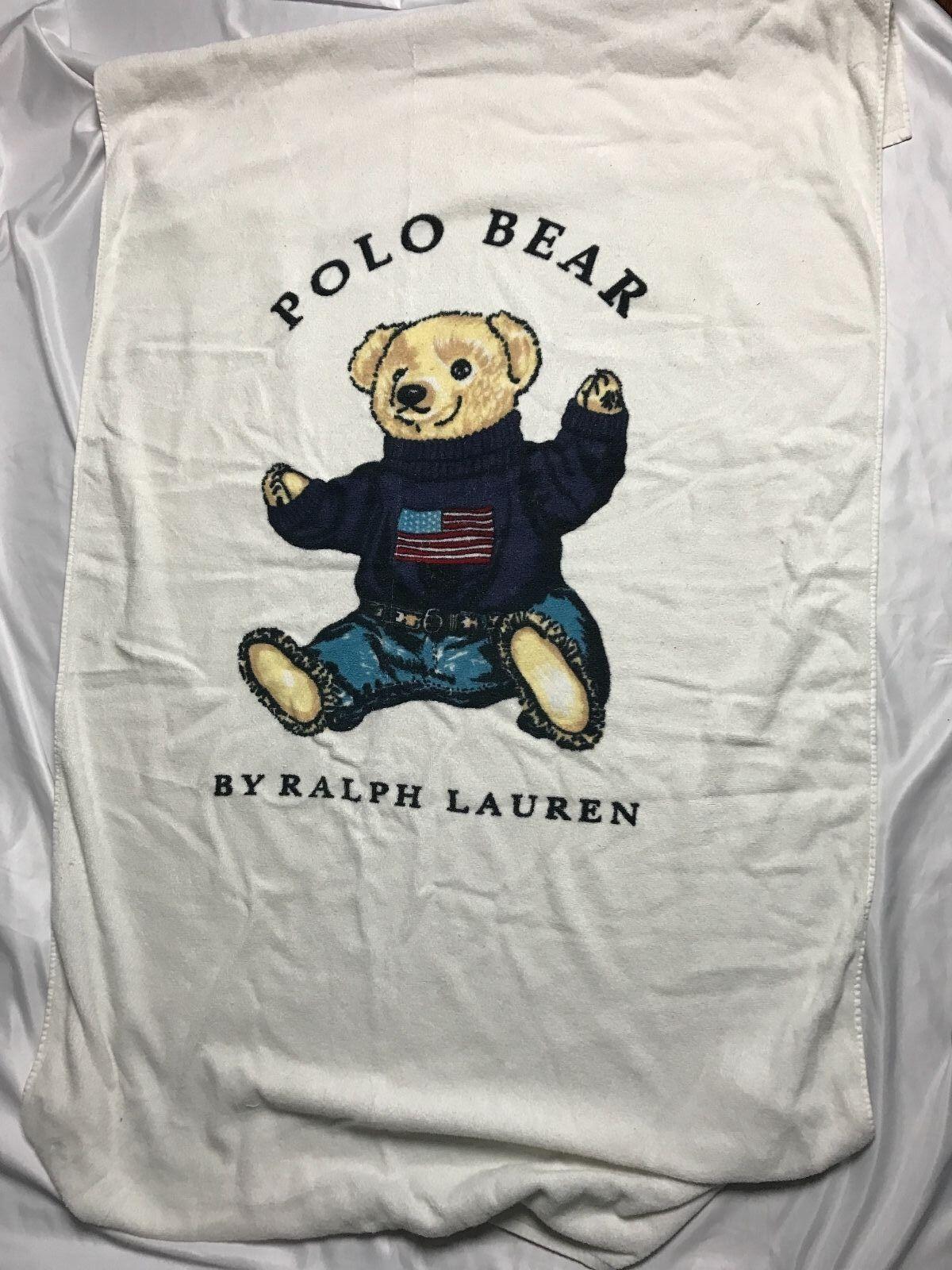 Vintage Polo Bear Towel 90s Sit Down Bear