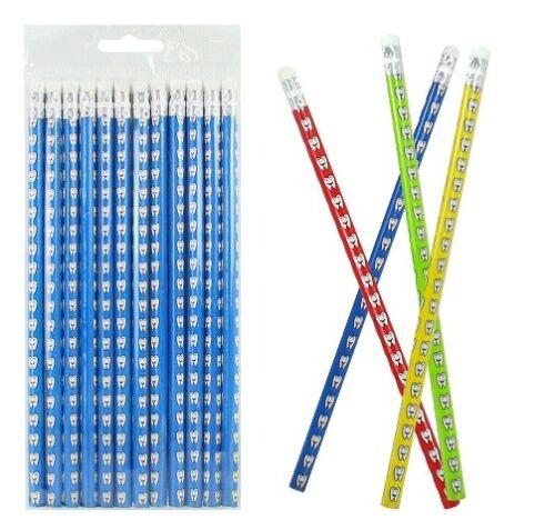 12 x Bleistifte Zahn Motiv Zähne Bleistift Giveaway Geburtstag Tombola Geschenk