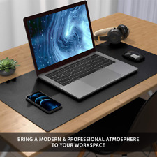 Multifunctional Office Desk Pad 315 X 157 Waterproof Pu Leather Mouse Mat