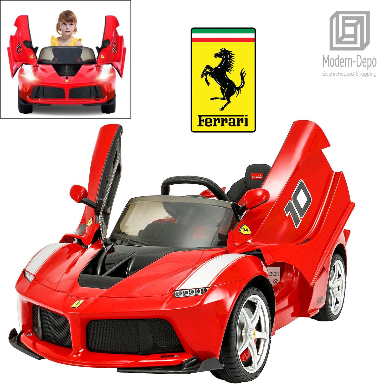 Rastjärna Ferrari LaFerrari FXX K 12V ungar Ride on bil med fjärrkontroll