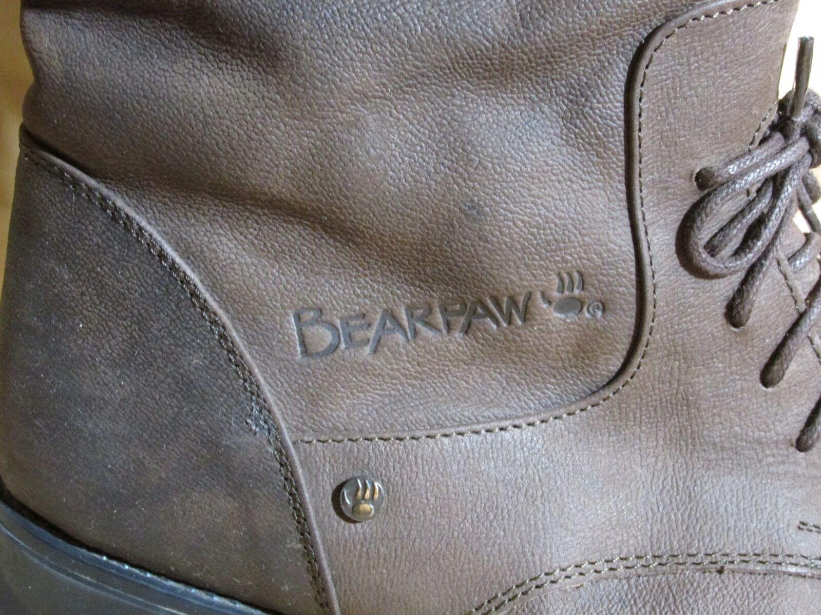 Damen Bearpaw Reitstiefel aus Schafspelz Leder Baumwolle Innenfutter - Schafspelz aus Fußbett 52d88f