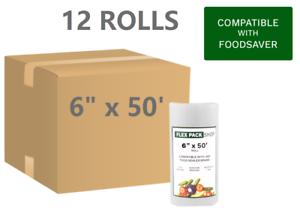 "BUY IN BULK /& SAVE $$$ 12 Rolls of 6/"" x 50/' Foodsaver style Vacuum Sealer Bags"