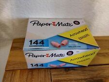 Paper Mate Arrowhead Pink Pearl Cap Erasers 144 Count New In Box