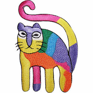 Rainbow-Cat-Embroidered-Iron-Sew-On-Patch-Jacket-T-Shirt-Bag-Dress-Jeans-Badge
