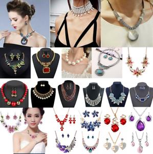 Fashion-Jewelry-Alloy-Choker-Chunky-Statement-Bib-Pendant-Women-Necklace-Chain