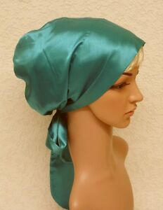 Image Is Loading Satin Bonnet For Long Hair Head Snood Sleeping