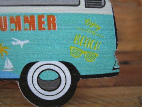"Aufsteller Bulli /""HELLO SUMMER/"" Bully Sommer Deko Shabby witzig Bus Camping"