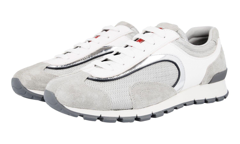 shoes PRADA LUXUEUX 4E3080 BIANCO silver NOUVEAUX 8,5 42,5 43