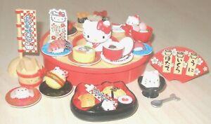 Rare-2011-Complete-Sanrio-Re-ment-Sushi-Bar-Minature-Hello-Kitty-set-46-pcs-unit