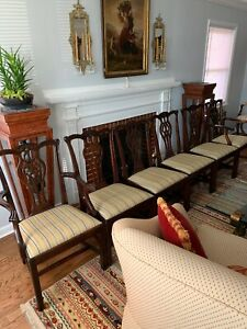 Set Of 6 Stickley Chippendale Mahogany, Used Stickley Dining Room Furniture
