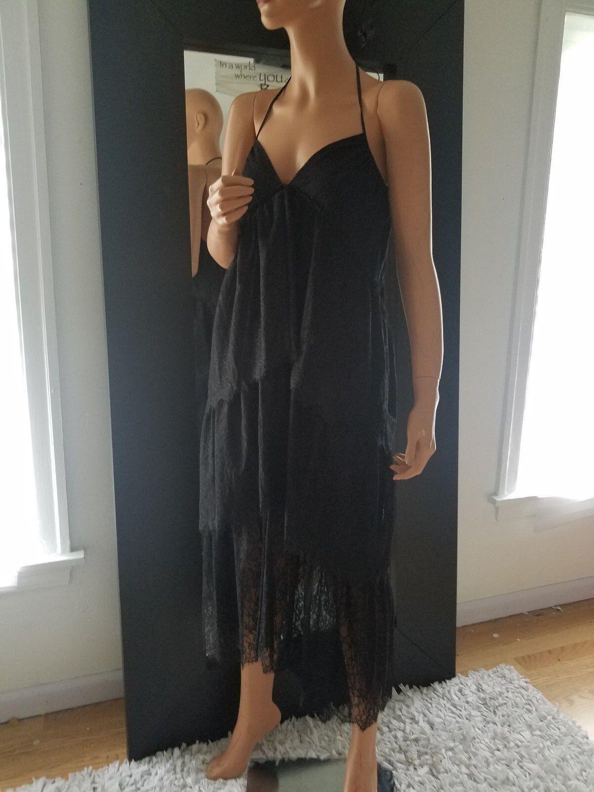 Bcbg schwarz KAT halter dress XS