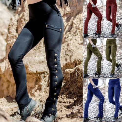 Medieval Renaissance Summer Women Gothic Steampunk Trouser Pants Cosplay*Costume