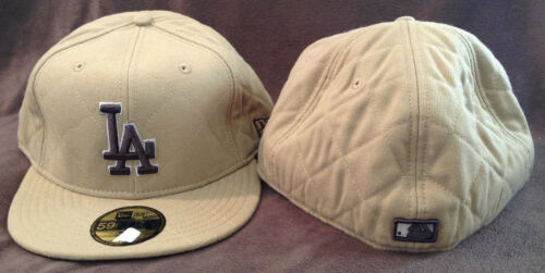 Los Angeles Dodgers New Era 59FIFTY Fitted Hat 100/% Wool Brown Mens Size 8
