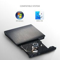 Usb3.0 External Cd/dvd-rw Burner Cd Dvd Drive Player For Mac Notebook Pc Laptop
