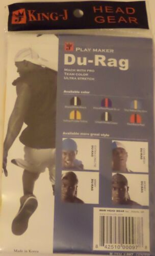 1 Count King-J Du-Rag Two Tone Classic CAP /& HAT /& CLOTHING ACCESSORY