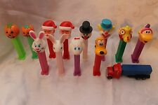 13 Vintage PEZ Dispensers Lot Hungary Solvenia Goofy Clown Pumpkin Bunny Truck