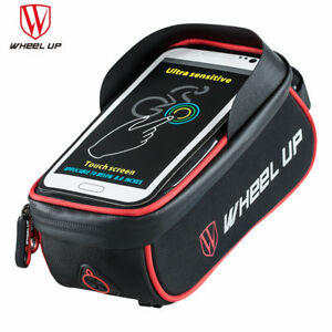 WILD MAN Mountain Bike Bag Waterproof MTB Mobile Phone Case Front Tube Bags