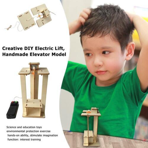 Creative DIY Electric Lift Handmade Elevator Model Children Assembled Toys