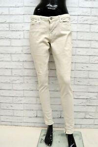 Jeans-LEVIS-Donna-Taglia-31-Pantalone-Slim-Fit-Skinny-Beige-Woman-Elastico-Pants