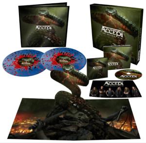 Accept - Too Mean to Die Blue Red Black Splatter 2 Vinyl LP Signed Fanbox NEU