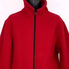 Guy Cotten Fleece Jacket Vtg Full Zip Mock Neck Made In France Red Mens Size XL